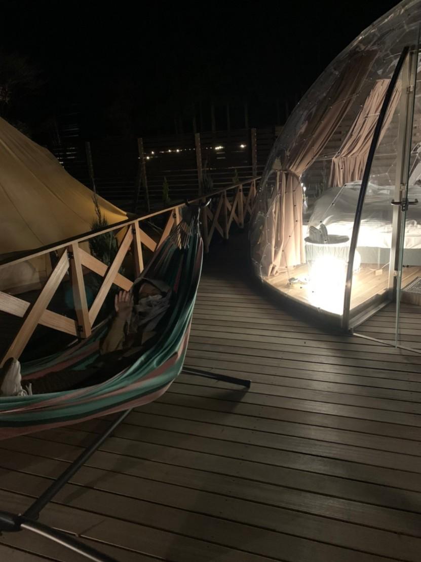 【那須満喫】まぐの女子旅『おしゃグランピング』☆透明なドームで非日常キャンプ☆_4