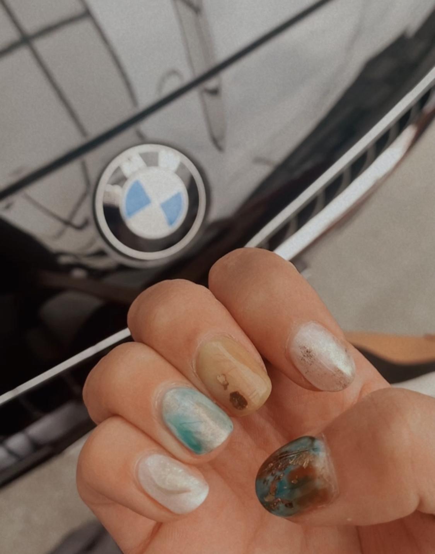 〈 nail 〉初うるうるネイルに挑戦☺︎_2