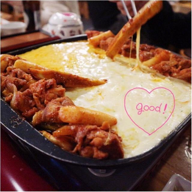 いまキテるあったかグルメはコレ!一度食べたらやみつき♡とろ〜りチーズを絡めて食べる「チーズタッカルビ」☻_3