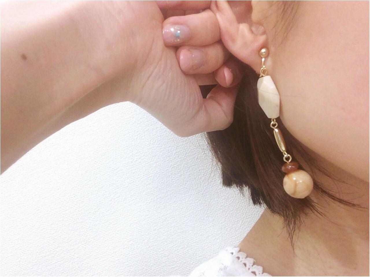 大ぶりイヤリングも【GU】流行小物も安い《高見え590円》実際つけてみた!_4