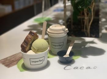 """【表参道ヒルズカフェ】アイス・チョコを買って社会問題を支援できちゃう""""imperfect""""へ♡"""