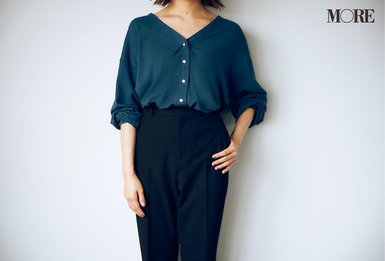 ユニクロで発見☆ 骨格診断で【ストレートタイプ】の人に似合う黒パンツがとてもきれい♡_5