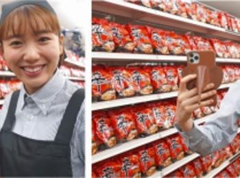 飯豊まりえが店員に扮して品出し!『辛ラーメン』新CMが公開中 photoGallery