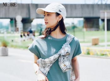 【今日のコーデ】<鈴木友菜>シンプルなフレンチスリーブワンピースを小物とシャツで味変!