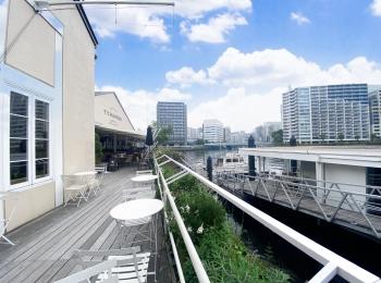 都会の運河を眺めながら、テラスでゆったりランチ✴︎