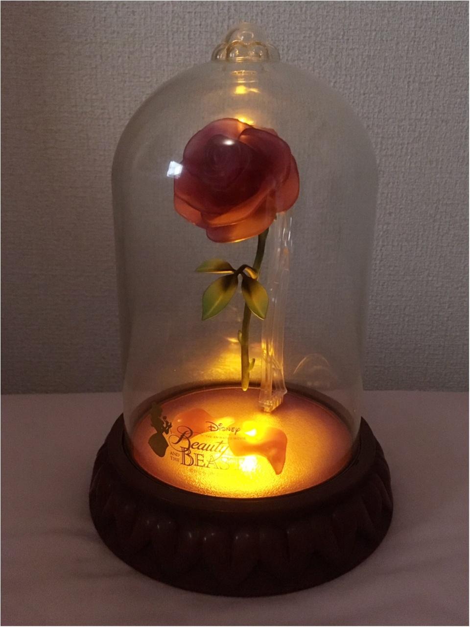 『美女と野獣』一番くじA賞『魔法のバラ』ライトが当たりました!魔法をかけて、いざ点灯♡_3
