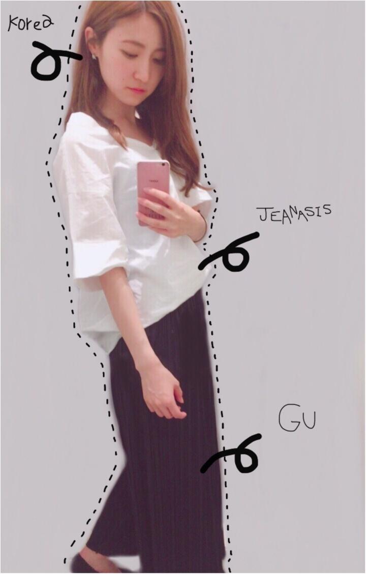 【GU × 〇〇〇】大人なプリーツワイドパンツに合わせてみました♡♡プチプラに見せないコーディネートの仕方✌︎⋈ _1