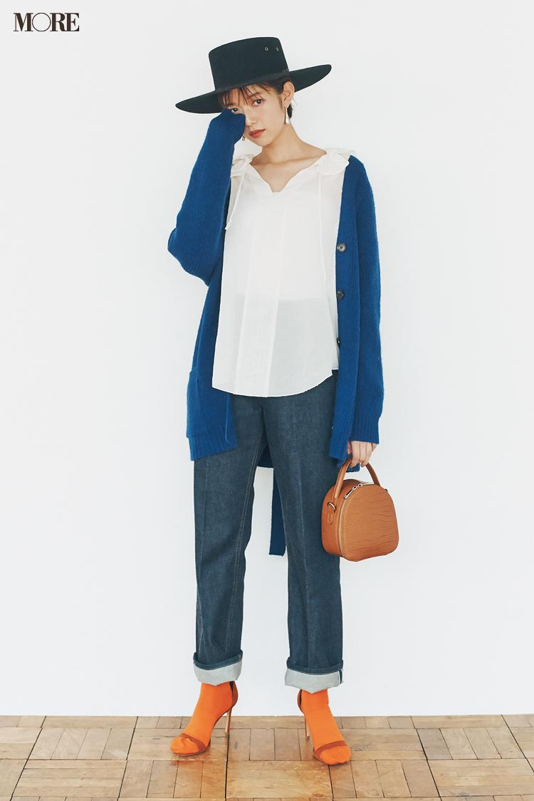 【今日のコーデ】<佐藤栞里>大人シンプルなデニムコーデにトライ。旬小物で飾ってみて_1