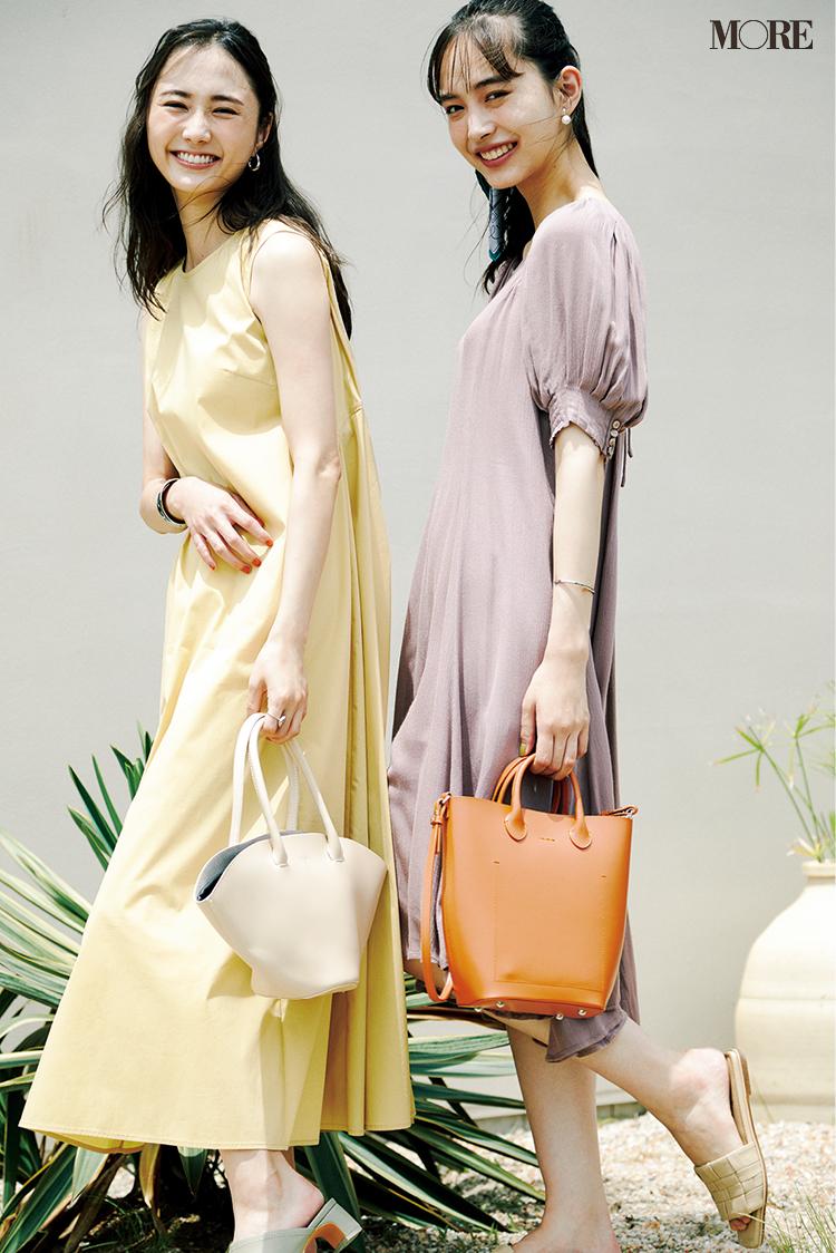 ベーシックカラー感覚で着られるきれい色のティアードワンピース