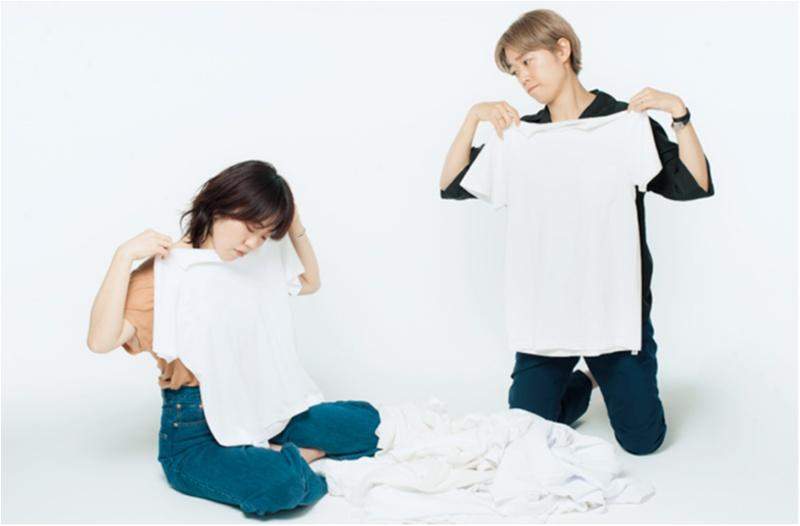 「なで肩&二の腕太め」さん・「大胸&骨太」さんに似合う白Tシャツはどれ? スタイリストが全部試しました☆_2_3