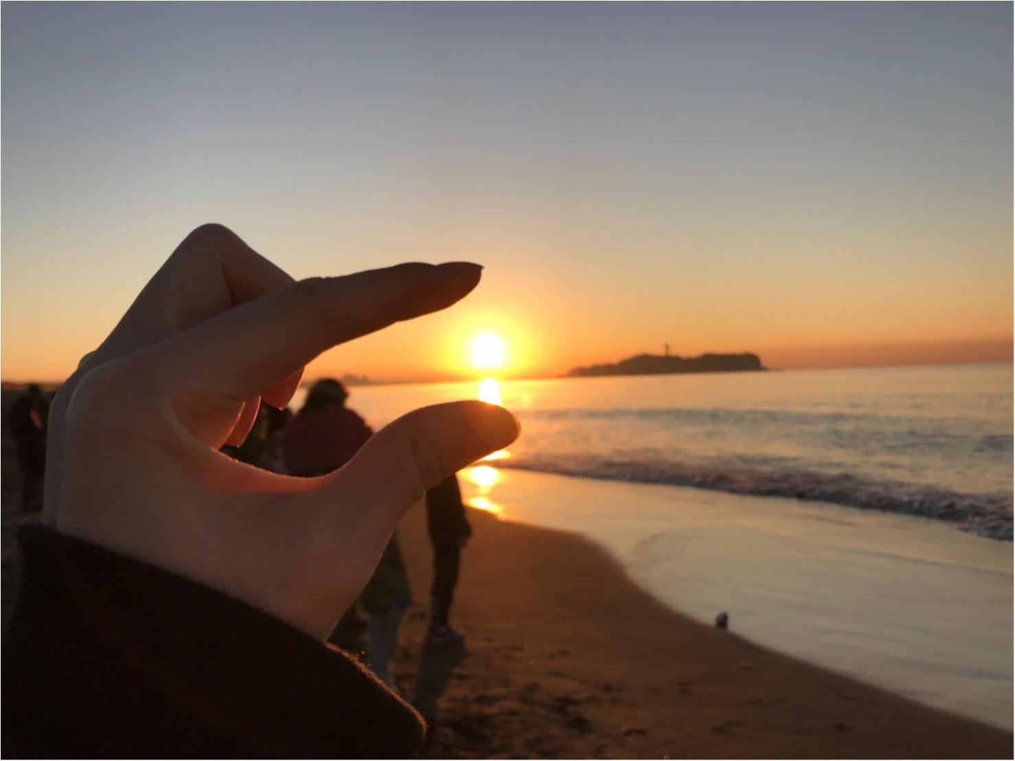 あけましておめでとうとございます 初日の出!江ノ島でシラス丼 _1