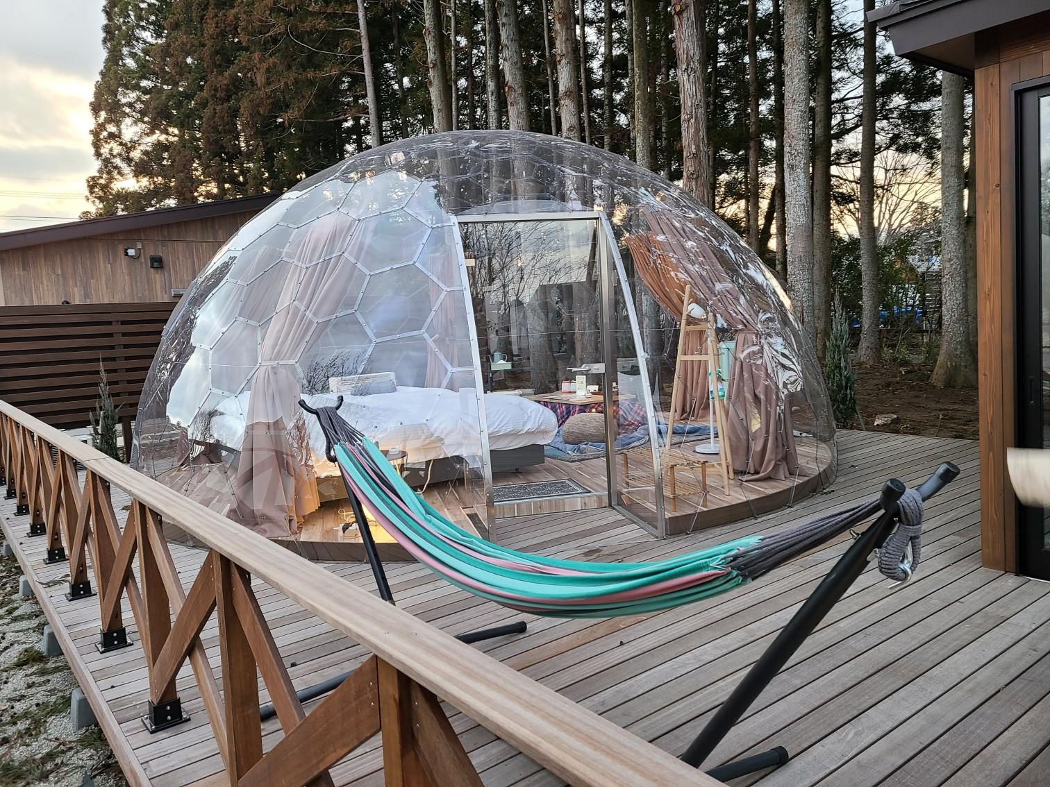 【那須満喫】まぐの女子旅『おしゃグランピング』☆透明なドームで非日常キャンプ☆_1