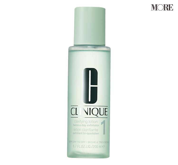 道重さゆみさんの愛用化粧水『クリニーク』 肌がザラつく時に使用
