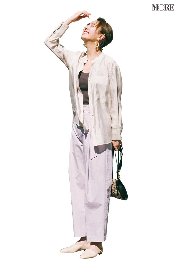 甘いシャツ×ワイドパンツなら素敵なお仕事コーデになる♡ 鍵を握るのはぺたんこ靴だった!_2