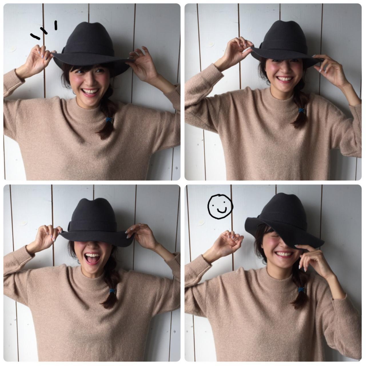【オフショット】佐藤ありさちゃん、帽子で遊びまくるの巻_1