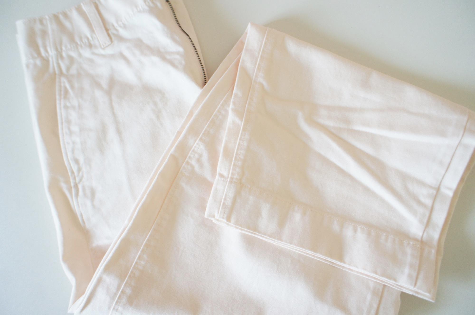 《ワゴンsaleで発見❤️》【ユニクロ】これから超使える¥990の白パンツ☻_2