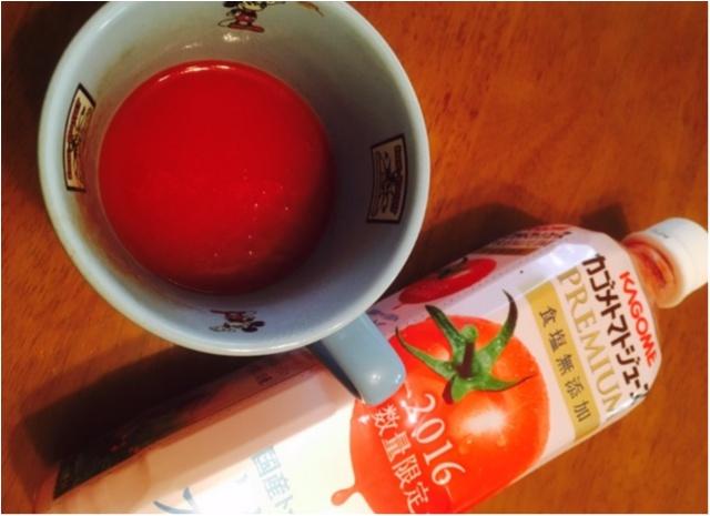 トマトジュースが大変身!!冬にぴったり。レンジでチンするだけ〜〜〜_8