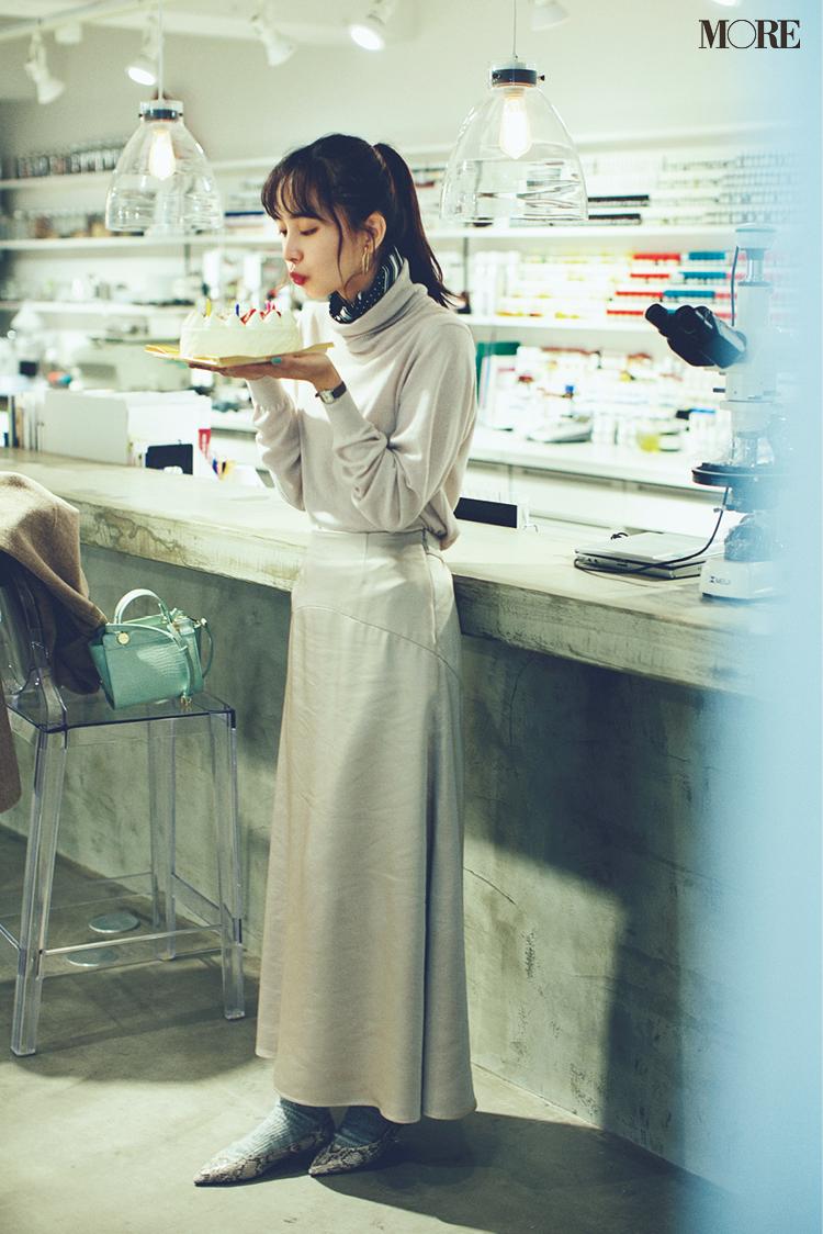 「サテン素材のスカートを買い足したら、なぜか主役に?」井桁弘恵主演[2月→4月の計画的買い足し着回し]6日目_1