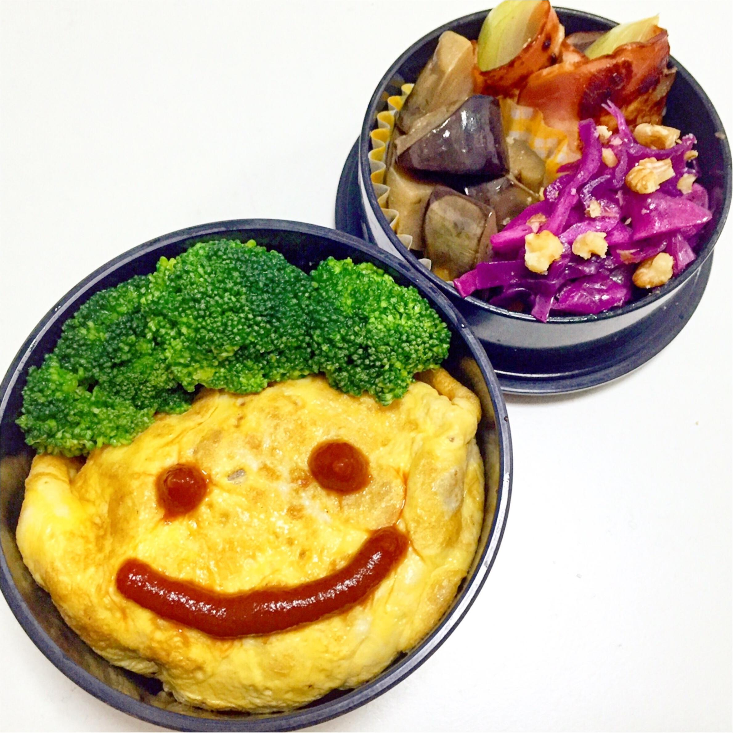 【彩りよくお弁当を作るコツpart2】5色で作る1週間のお弁当_2