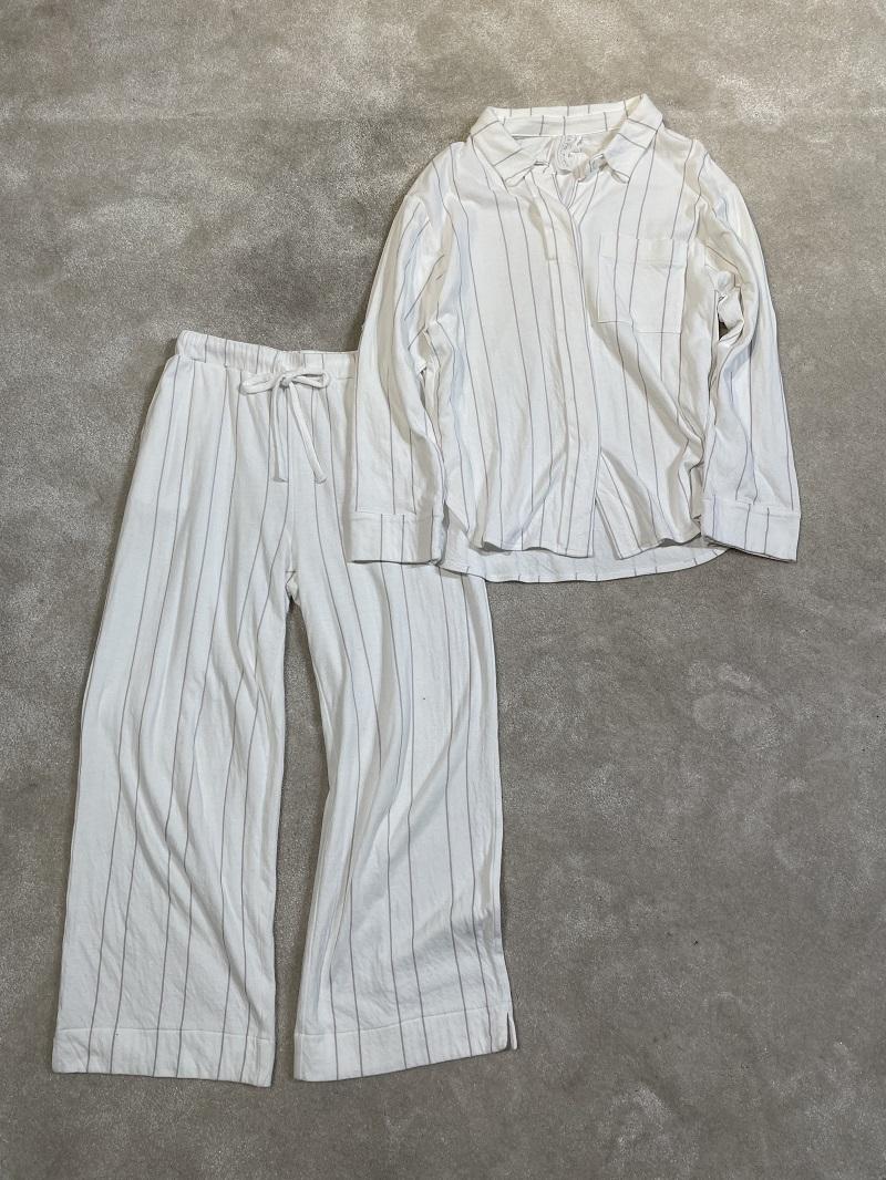 ジェラートピケ、シャツのパジャマ