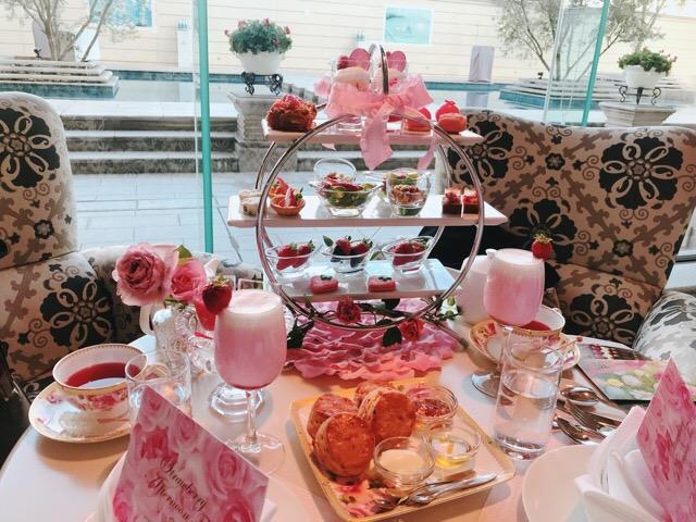 【ラ・スイート神戸ハーバーランド】ストロベリーアフタヌーンティーの苺と薔薇のコラボが可愛すぎる♡♡_11