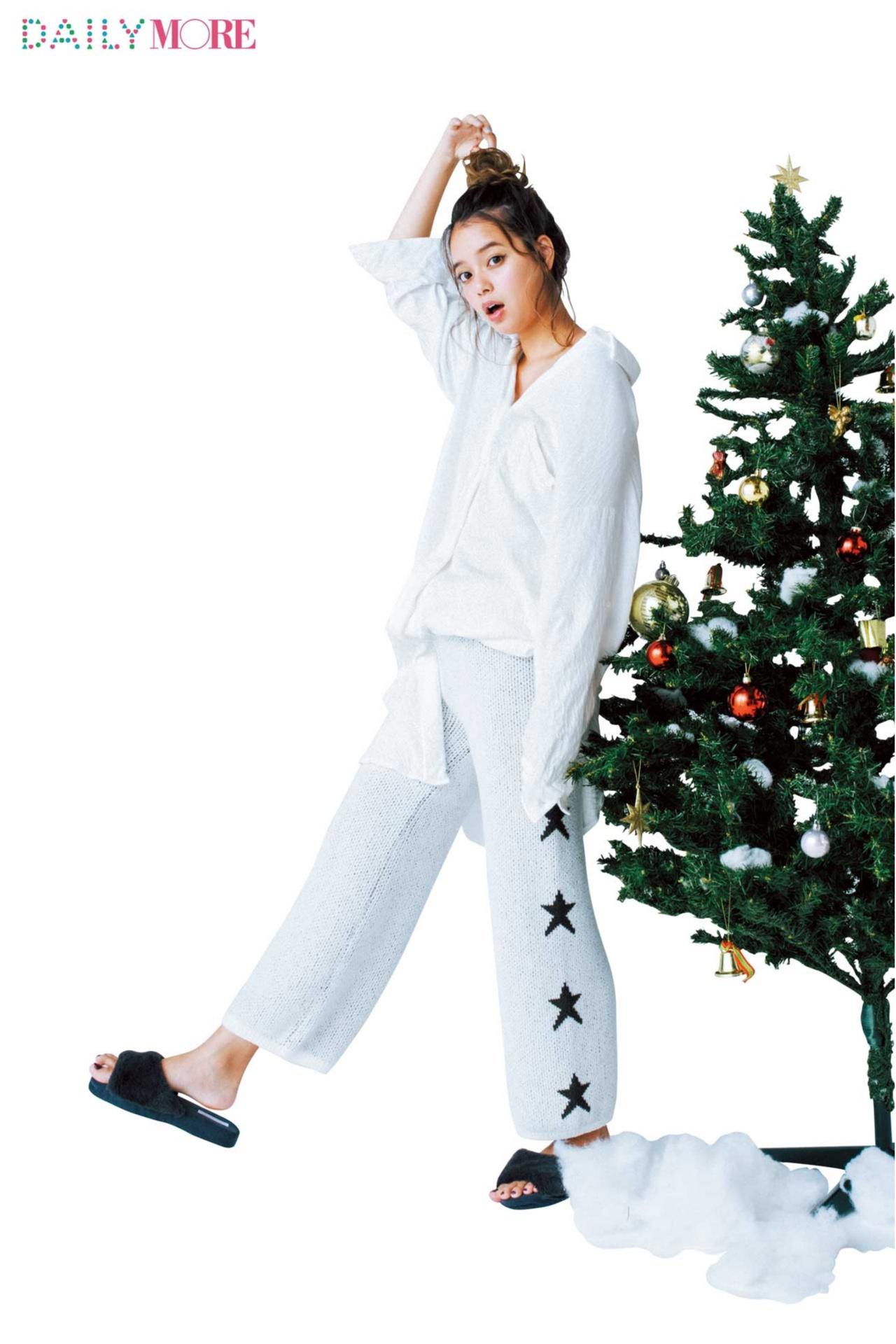 【今日のコーデ/岸本セシル】家族と過ごすクリスマスはお家コーデをピュアホワイトで気分上げ!_1