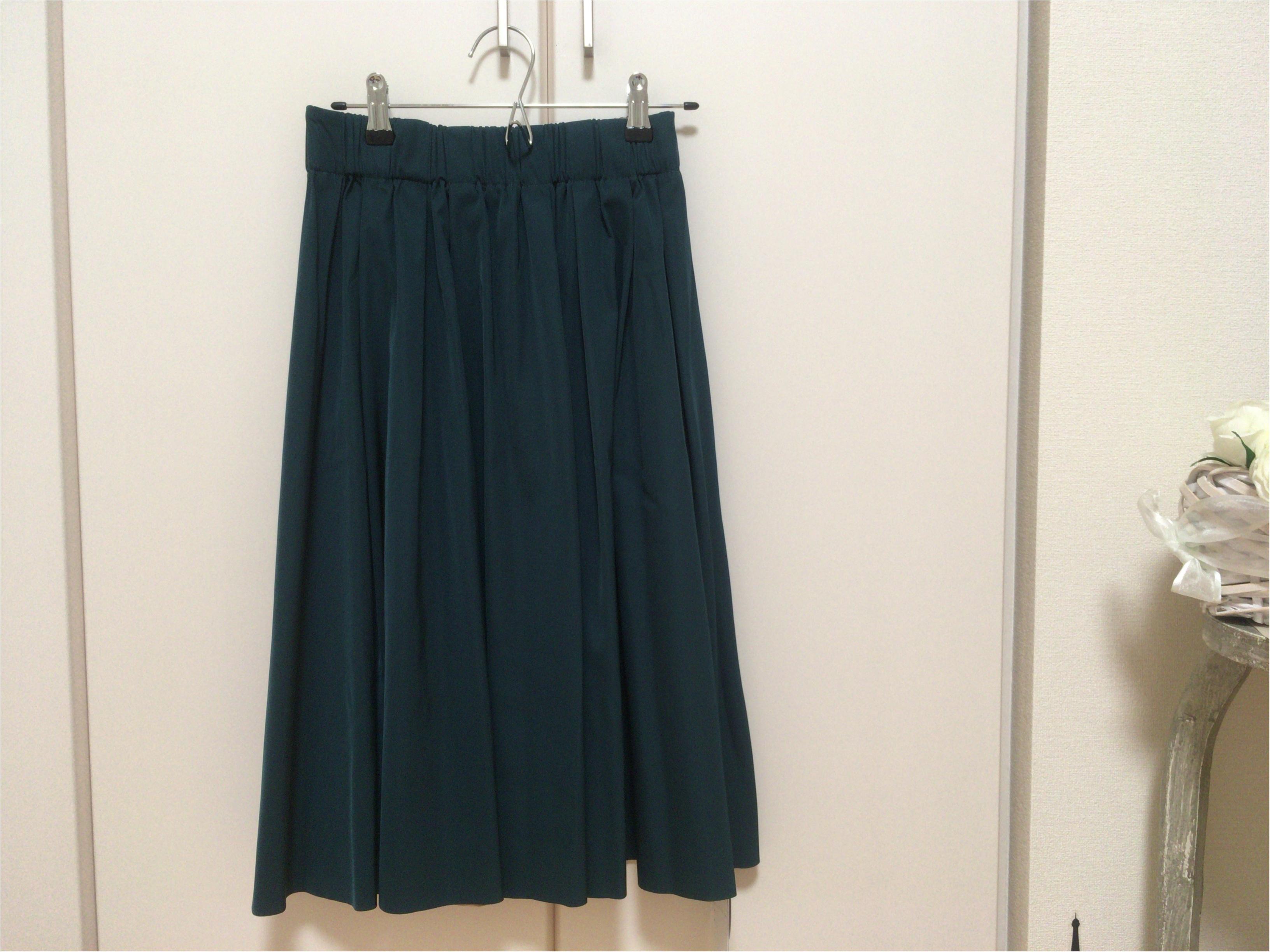 【秋冬トレンド】『深みグリーン』と定番『ベージュ』2wayスカートで通勤オフィスコーデを着回し楽♡_2