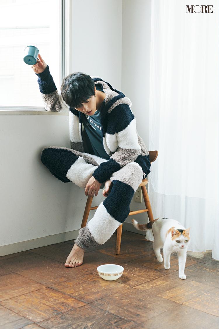 三宅亮輔くんが『ジェラート ピケ』のもこもこウェアを着こなした♡【猫好き男子編】_6