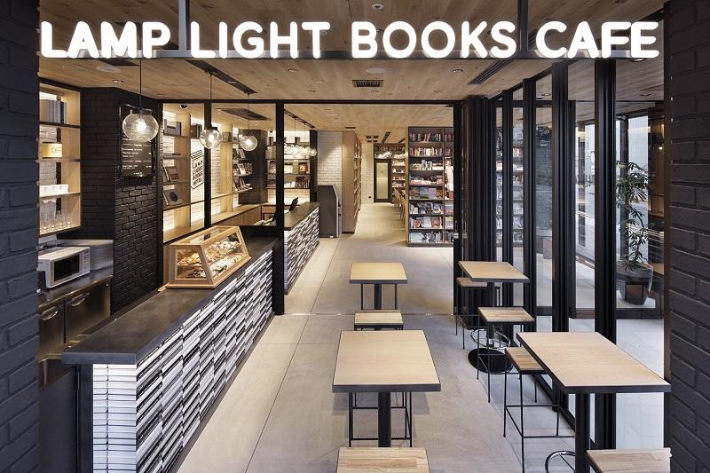【名古屋のおしゃれホテル】『ランプライトブックスホテル名古屋』のカフェ