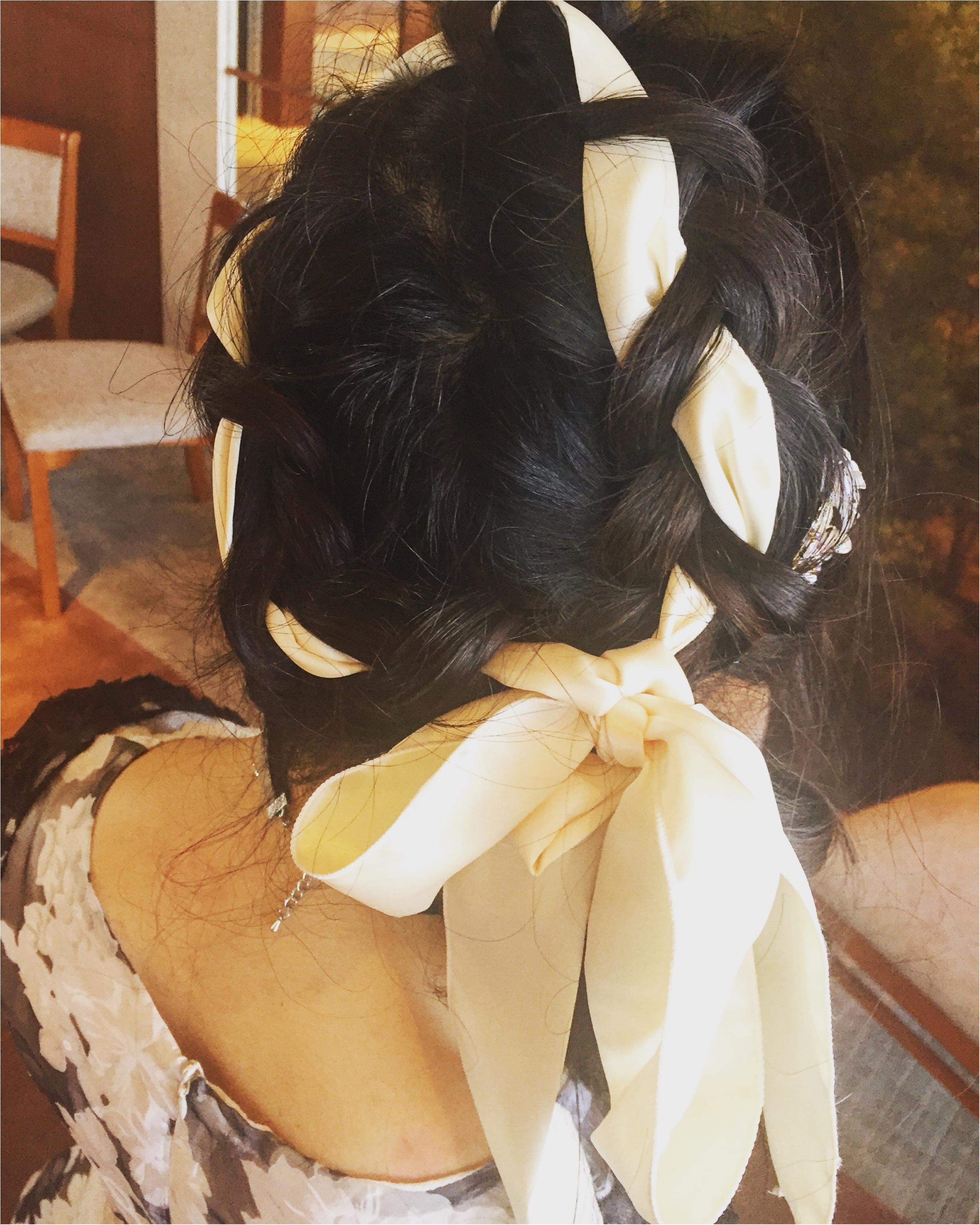 【Party Hair】リボンを使った編み込みアップヘア♡vif art新宿店なら¥2,500でヘアセットできちゃう✨≪samenyan≫_1