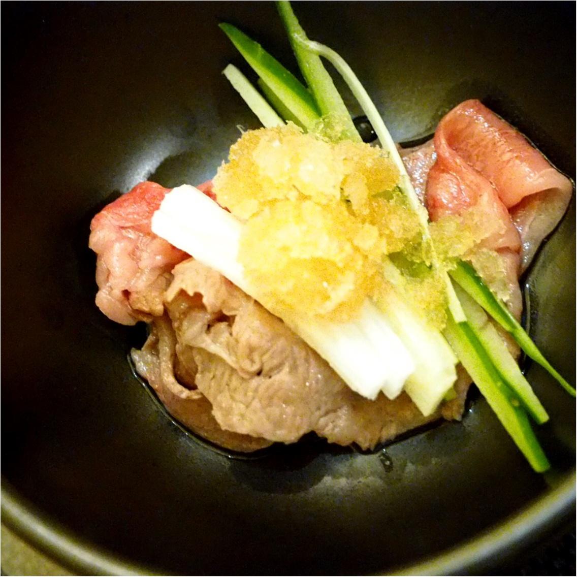 暑い夏こそ食べなきゃ♡塩すき鍋は特製の氷ダレをのせてさっぱりとした味わい_7