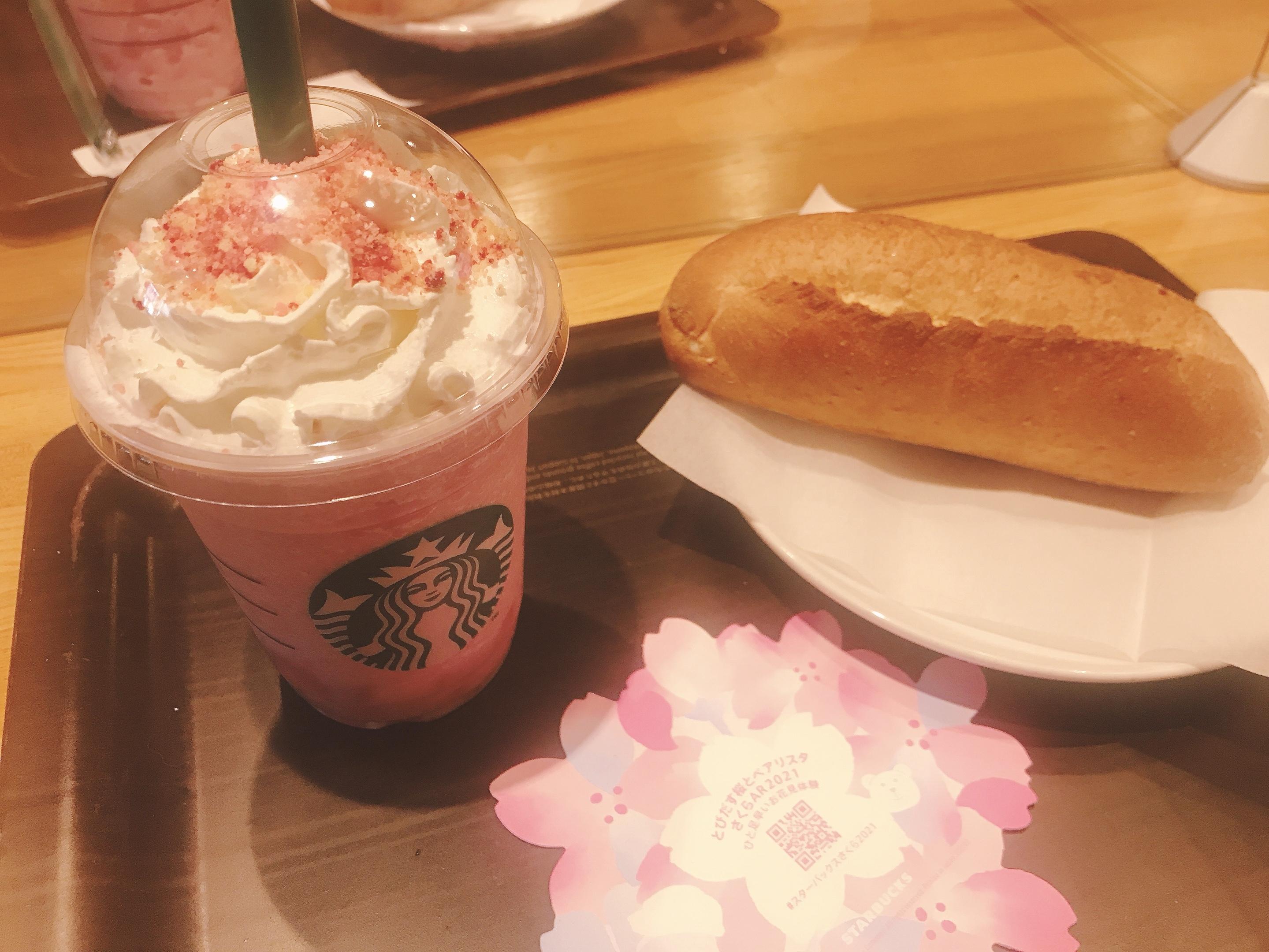 【スタバのさくら第2段】ピンクが可愛い♡ さくら咲いた ベリー フラペチーノ✿✿✿_4