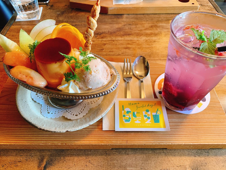 【おすすめカフェ】《桃とメロンのプリンアラモードと自家製シロップソーダ》が絶品♡_2