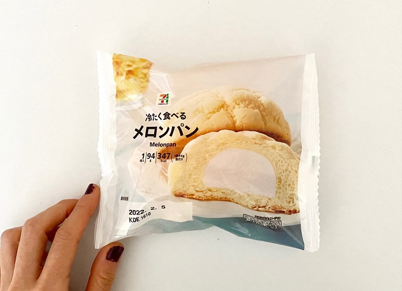 『セブン‐イレブン』の「冷たく食べるメロンパン」パッケージ