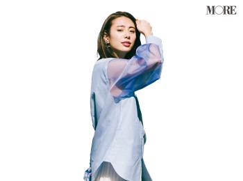 【今日のコーデ】<土屋巴瑞季>シャツをアウトで着るだけで定番スカートが今っぽバランスに