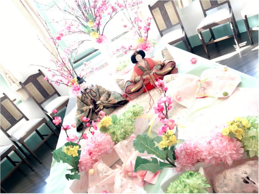 明日はひな祭り♡おひなさまとお花のコラボレーションが秀逸すぎる♡_1