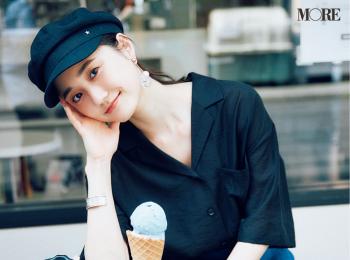 【今日のコーデ】<鈴木友菜>連休初日は海の日。開衿シャツにキャスケットでマリンテイストに♪