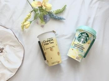◆コンビニ新作◆スタバ【サマーレアチーズケーキ】&LAWSON【チーズミルクティー】