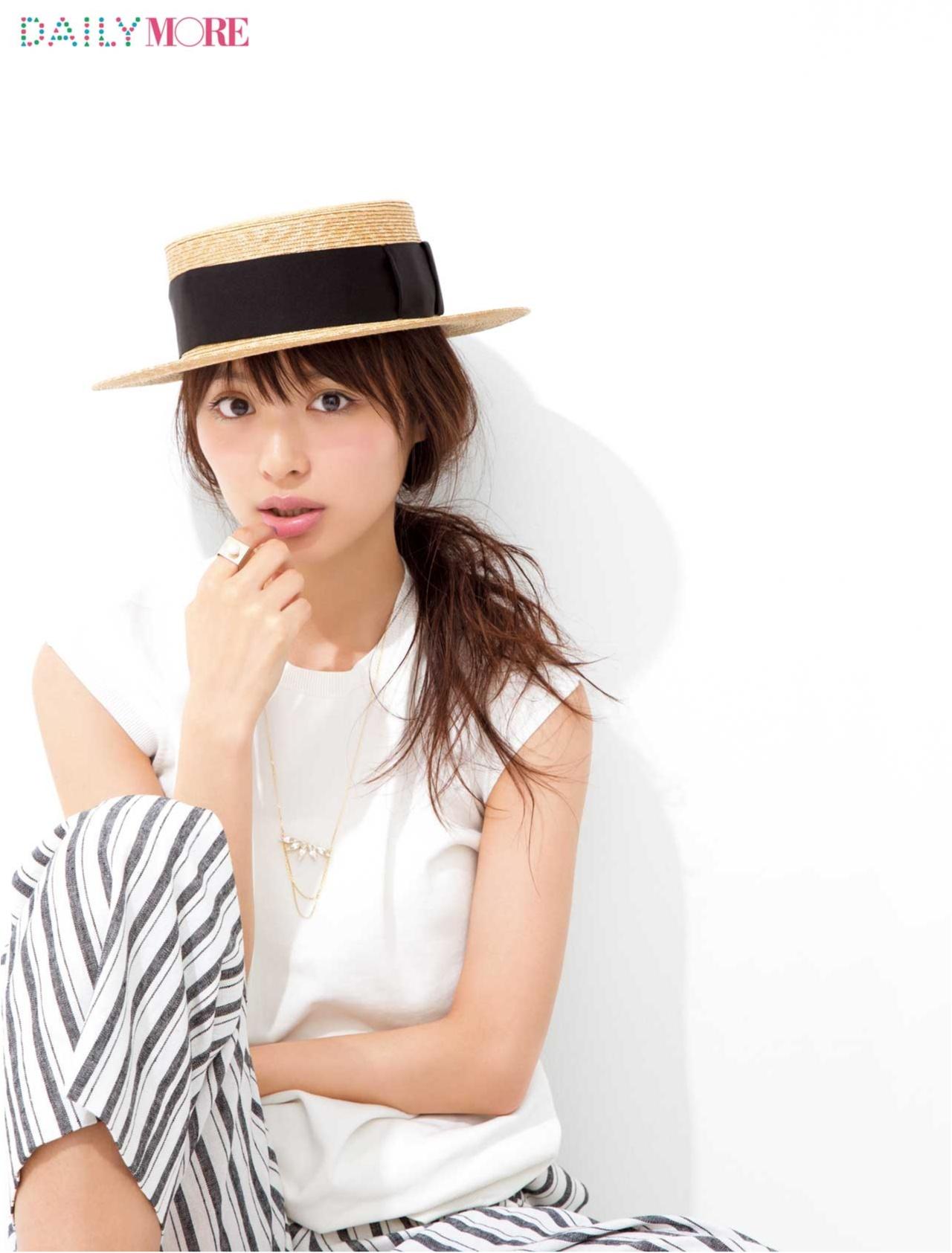 ラフさが断然かわいい! 「カンカン帽をかぶる日」の1分間夏ヘアアレンジ♡_1