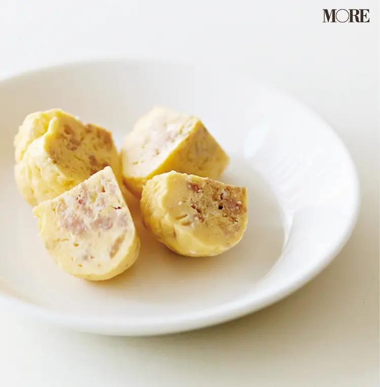 【作り置きお弁当レシピ】3. ひき肉の「そぼろで茶巾オムレツ」