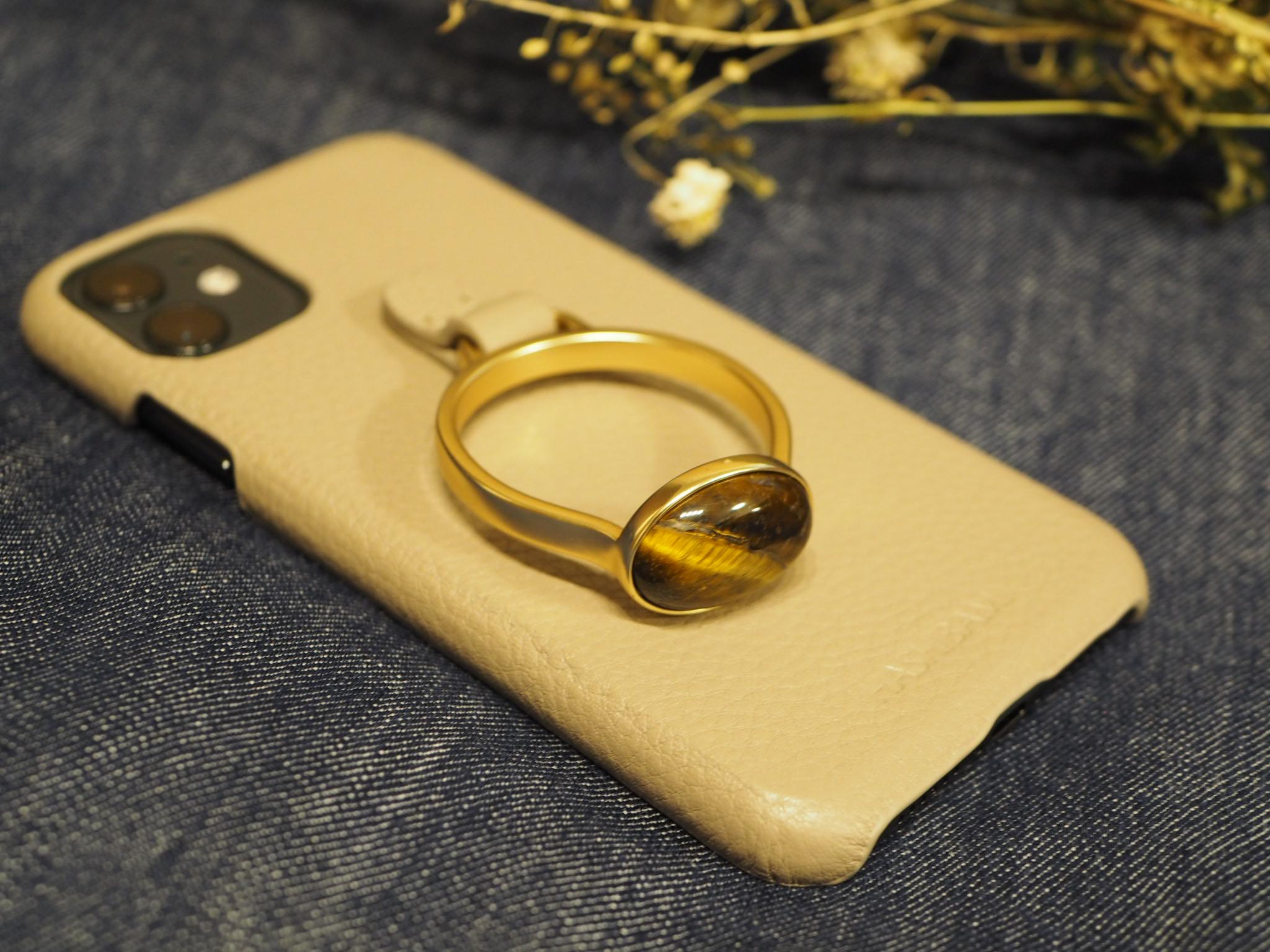 【HASHIBAMI】の《天然石ストーンリングiPhoneケース》がお洒落で可愛い♡_3