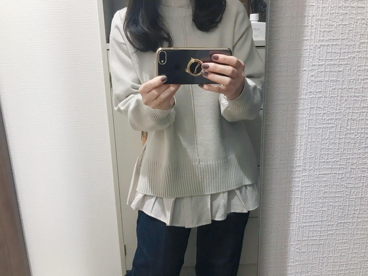 【GU】今から春までそれぞれ使える!レイヤードシャツ風タンク&ニット♡_6