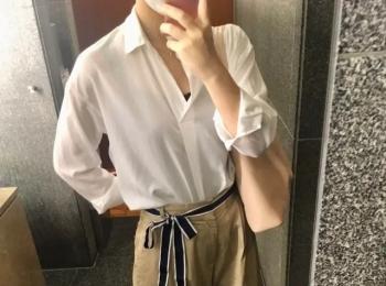 『ユニクロ』白シャツ&ワイドパンツで、きれいめオフィスコーデ♪【今週のMOREインフルエンサーズファッション人気ランキング】