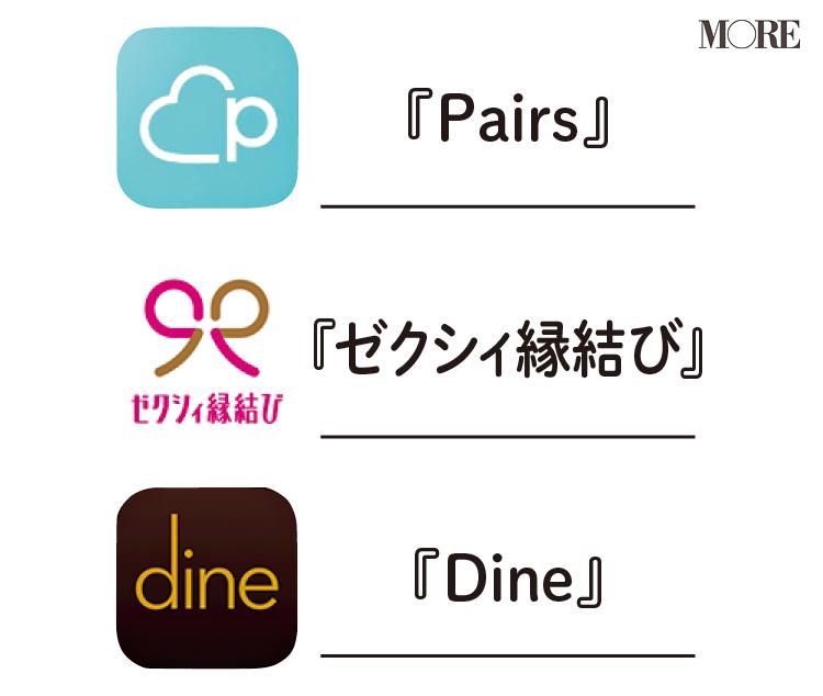 婚活には『ゼクシィ縁結び』、恋活には『Pairs』、デートには『Dine』。マッチングアプリ専門家が教える、出会いが生まれる目的別おすすめアプリ3選!_2