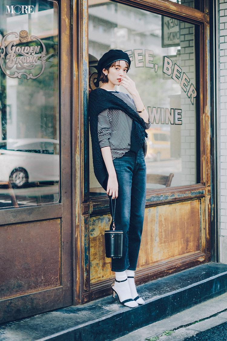 【今日のコーデ】<佐藤栞里>デニムがはきたい日曜日。可愛い&女っぽい黒でカジュアルを格上げ!_1
