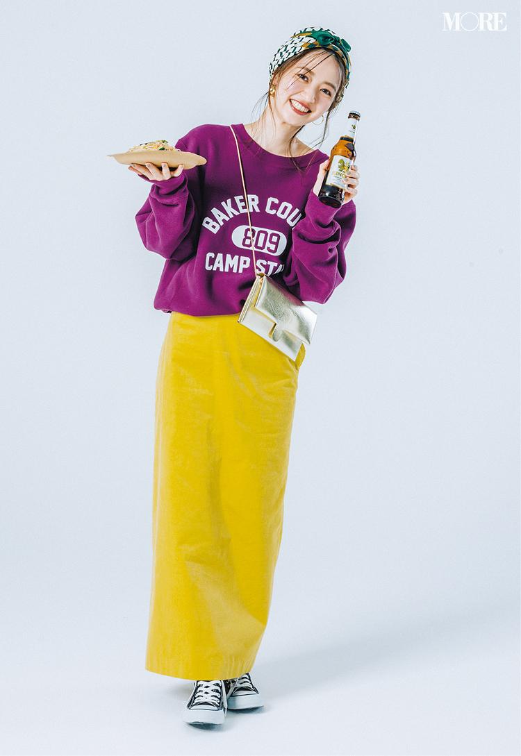 意外!? 黄色のロングタイトスカートがとにかく使える、5つの理由と5つの着回し例!_3