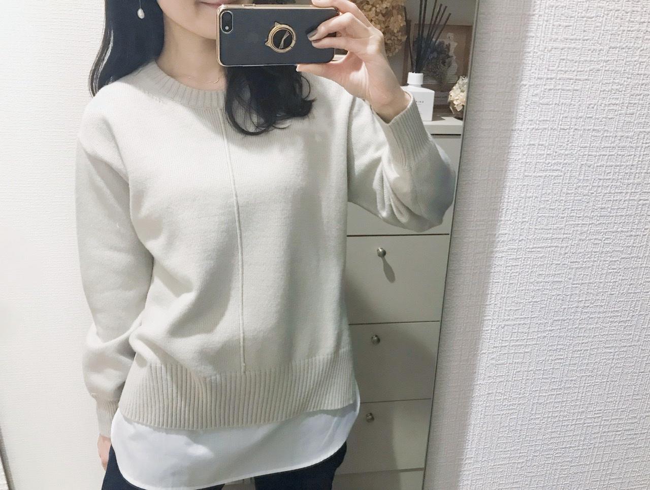 【GU】今から春までそれぞれ使える!レイヤードシャツ風タンク&ニット♡_3