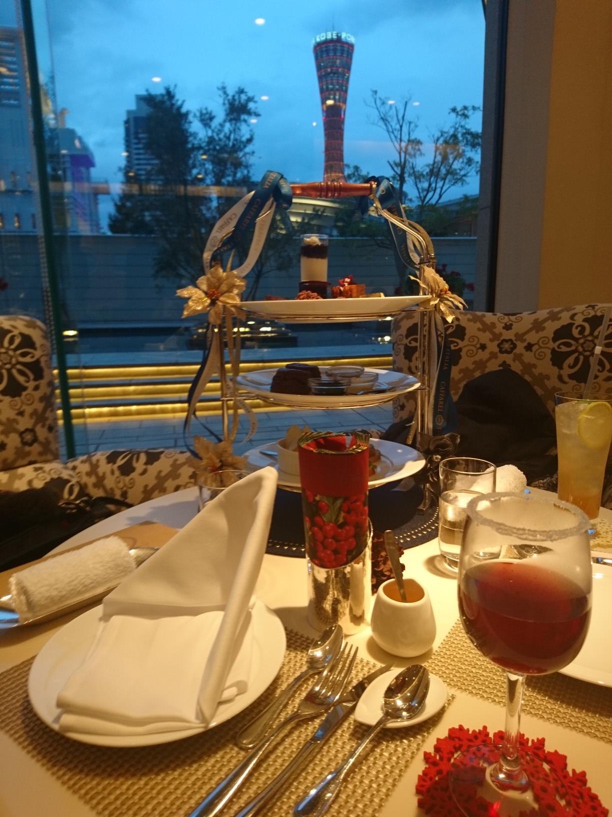 【女子旅におすすめ】兵庫県 ホテルのアフタヌーンティーと神戸夜景を満喫☆_1