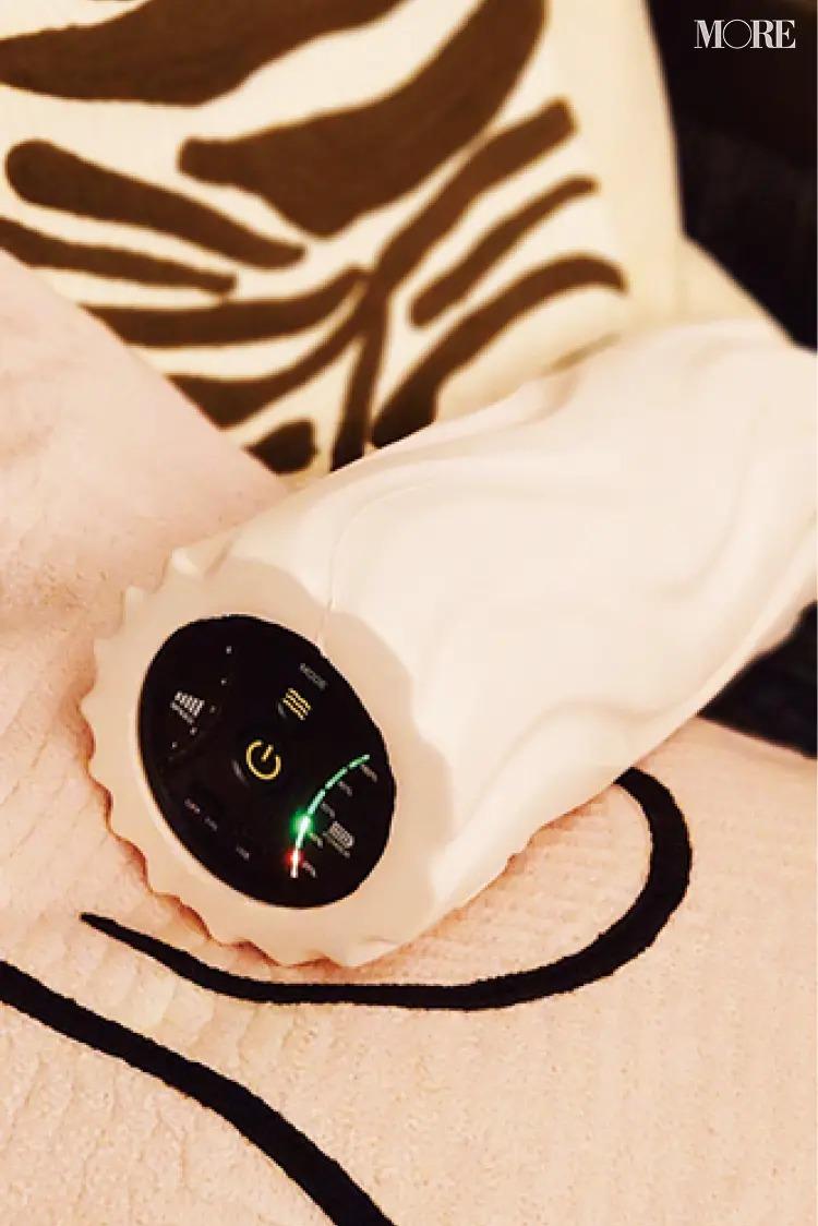 松本愛さんが毎朝使用している電動フォームローラー