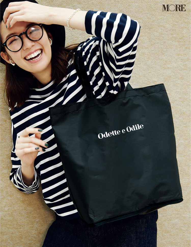 発売中のMORE12月号、付録はエコバッグ!『オデット エ オディール』のシックなデザインは男女兼用OK☆_1